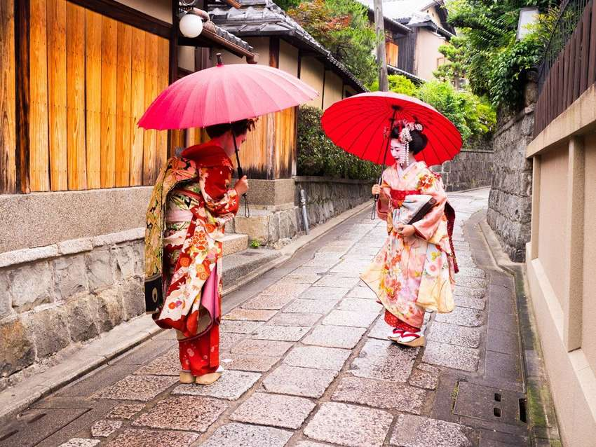 Geisha in Kyoto<br>