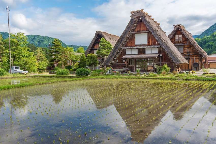 Traditionele boerderij in Shirakawago<br>